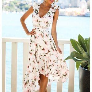 Vici High Low Spring Floral Dress